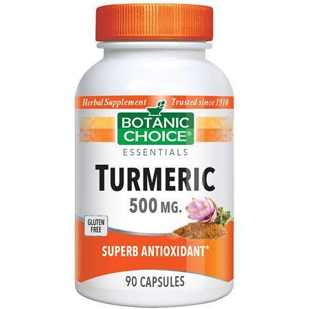 Botanic Choice Turmeric 500 mg Herbal Supplement Capsules - 90 ea.
