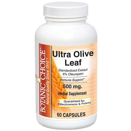 Botanic Choice Ultra Olive Leaf 500 mg Herbal Supplement Capsules - 60 ea