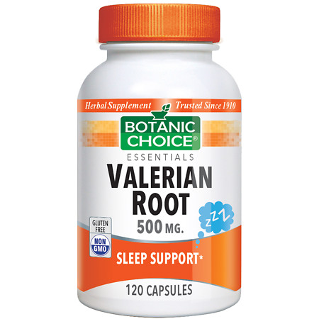 Botanic Choice Valerian Root 500 mg Herbal Supplement Capsules - 120 ea.
