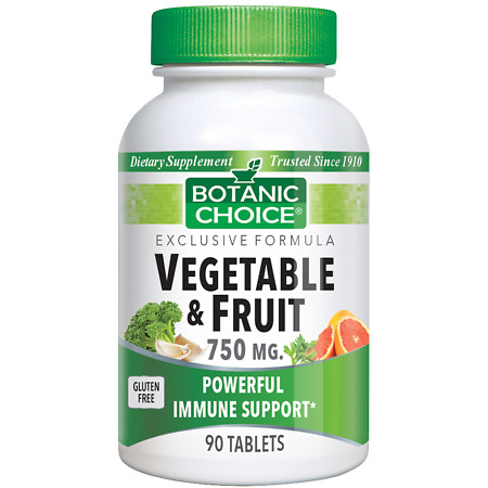 Botanic Choice Vegetable & Fruit Immune Support 750 mg Dietary Supplement - 90 ea.