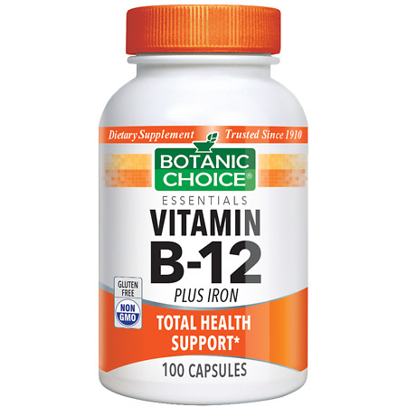 Botanic Choice Vitamin B-12 Plus Iron - 100 ea