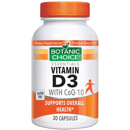 Botanic Choice Vitamin D3 with CoQ10 Dietary Supplement Capsules - 30 ea.