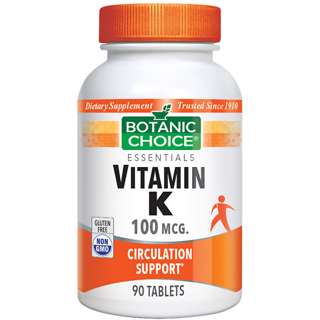 Botanic Choice Vitamin K 100 mcg Dietary Supplement Tablets - 90 ea.