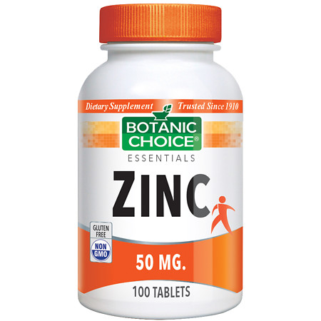 Botanic Choice Zinc 50 mg Dietary Supplement Tablets - 100 ea.