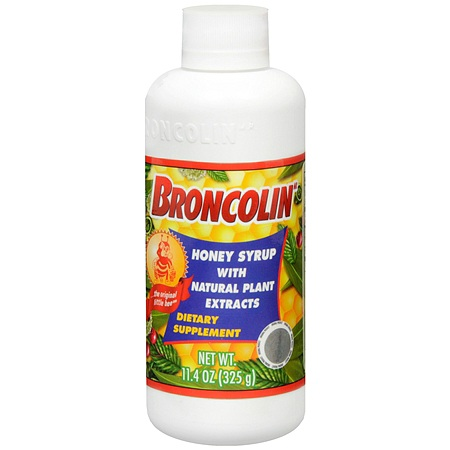 Broncolin Honey Syrup Dietary Supplement, Regular - 11.4 oz.