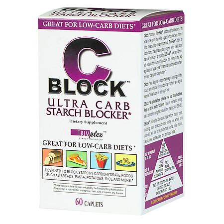 CBlock Ultra Carb Starch Blocker, Caplets - 60 ea