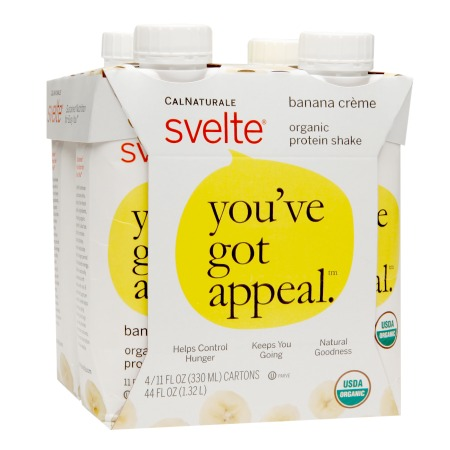 CalNaturale Svelte Organic Protein Shake Banana Creme - 11 oz.