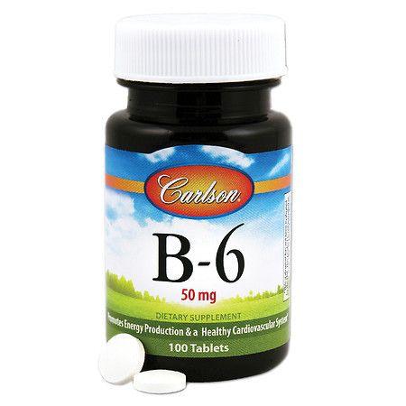 Carlson B-6 50 mg, Tablets - 100 ea