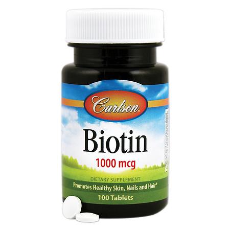 Carlson Biotin 1000 mcg, Tablets - 100 ea