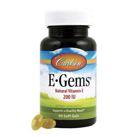 Carlson E-Gems Natural Vitamin E 200 IU, Softgels - 90 softgels