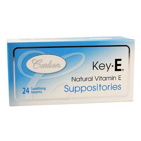 Carlson Key-E Suppositories with Natural Vitamin E - 24 ea