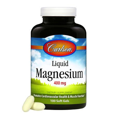 Carlson Liquid Magnesium 400mg, softgels - 100 ea