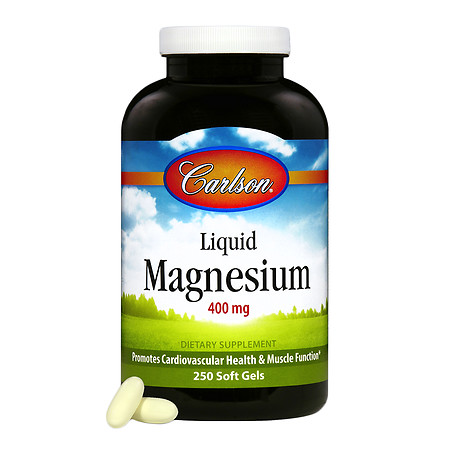Carlson Liquid Magnesium 400mg, softgels - 250 ea