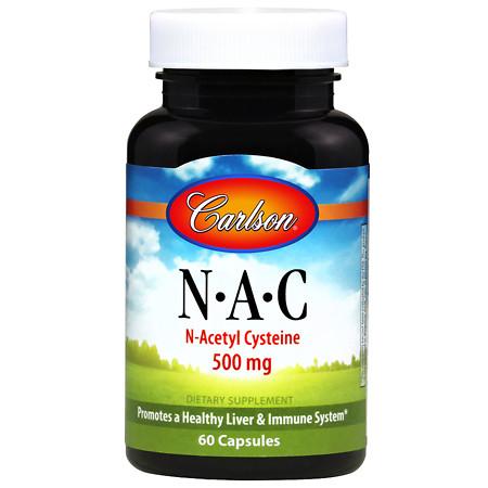 Carlson NAC N-Acetyl Cysteine 500 mg - 60 ea