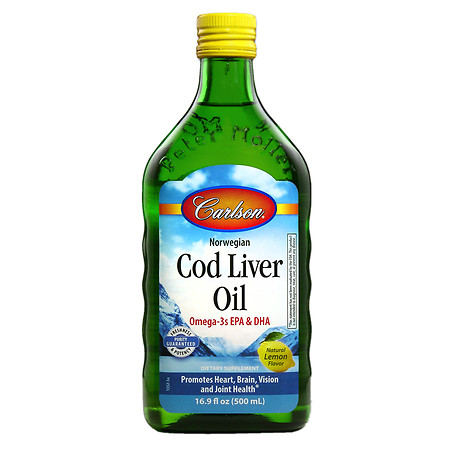 Carlson Norwegian Cod Liver Oil Lemon - 16.8 oz.