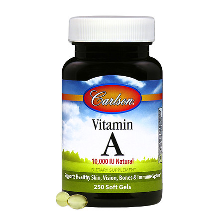 Carlson Vitamin A 10,000 IU Natural, Softgels - 250 ea