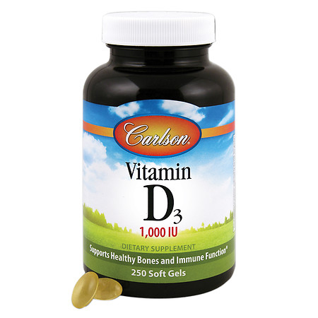 Carlson Vitamin D3 1000 IU, softgels - 250 ea