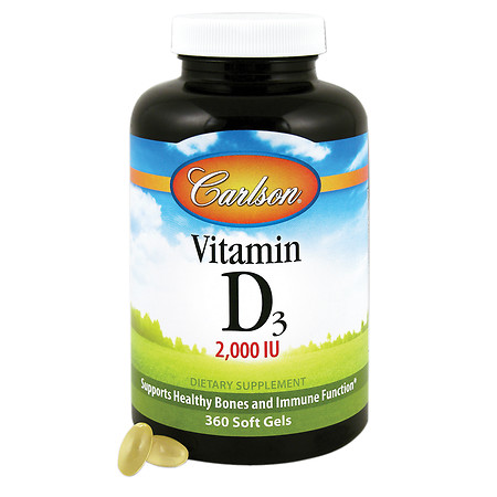 Carlson Vitamin D3 2000 IU, softgels - 360 ea