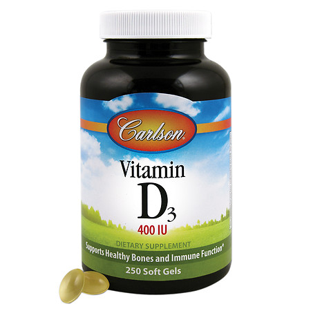 Carlson Vitamin D3 400 IU, softgels - 250 ea