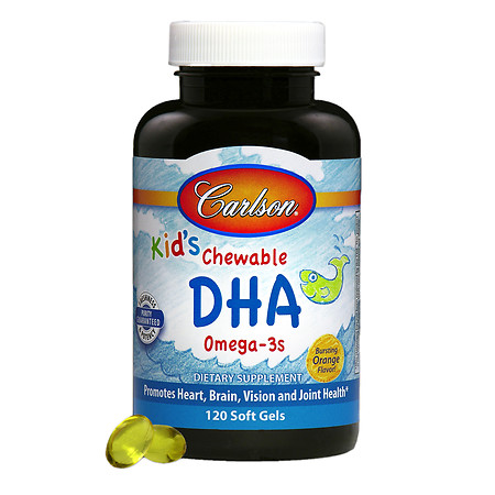Carlson for Kids Chewable DHA, softgels Orange - 120 ea