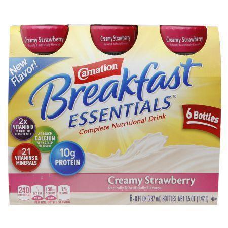 Carnation Breakfast Essentials Complete Nutritional Drink Creamy Strawberry - 8 oz.