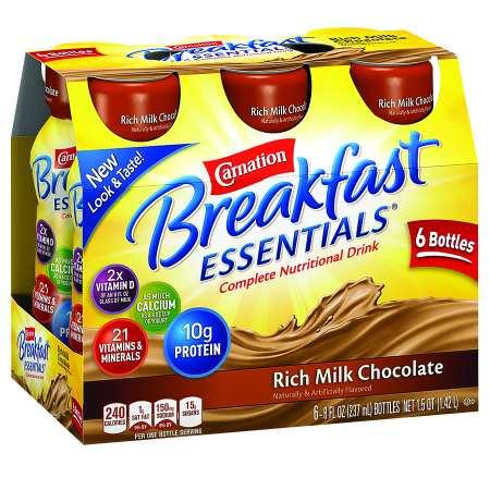 Carnation Breakfast Essentials Complete Nutritional Drink Rich Milk Chocolate - 8 oz.