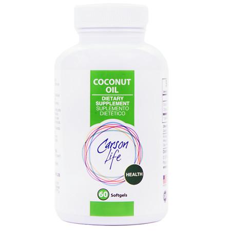 Carson Life Coconut Oil Capsules Coconut - 60 ea