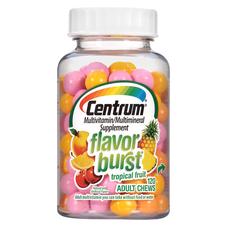 Centrum Adult, Flavor Burst MultivitaminMultimineral Supplement Chews Tropical Fruit - 120 ea