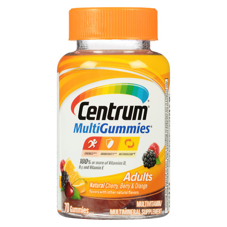 Centrum Adult, MultiGummies MultivitaminMultimineral Supplement Gummies Assorted - 70 ea