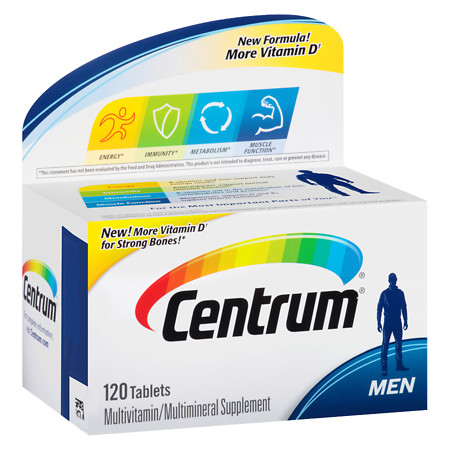 Centrum Men, Complete MultivitaminMultimineral Supplement Tablet - 120 ea
