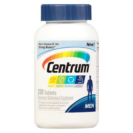 Centrum Men, Complete MultivitaminMultimineral Supplement Tablet - 200 ea