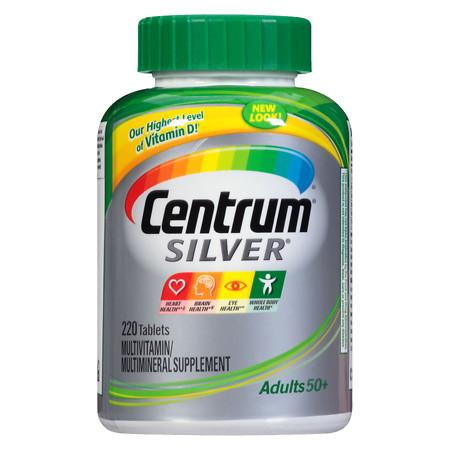 Centrum Silver Adult Age 50+, Complete MultivitaminMultimineral Supplement Tablet - 220 ea