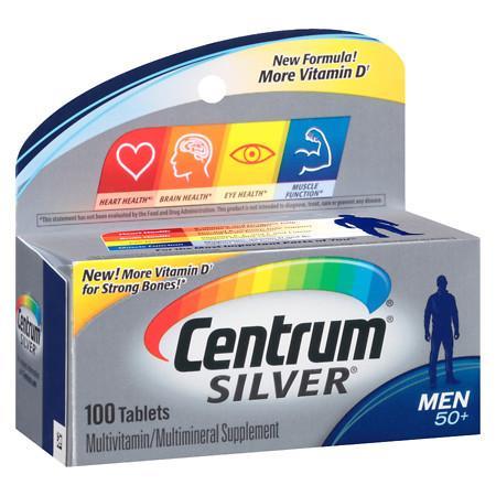 Centrum Silver Men Age 50+, Complete MultivitaminMultimineral Supplement Tablet - 100 ea