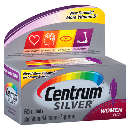 Centrum Silver Women Age 50+, Complete MultivitaminMultimineral Supplement Tablet - 65 ea