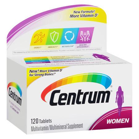Centrum Women, Complete MultivitaminMultimineral Supplement Tablet - 120 ea