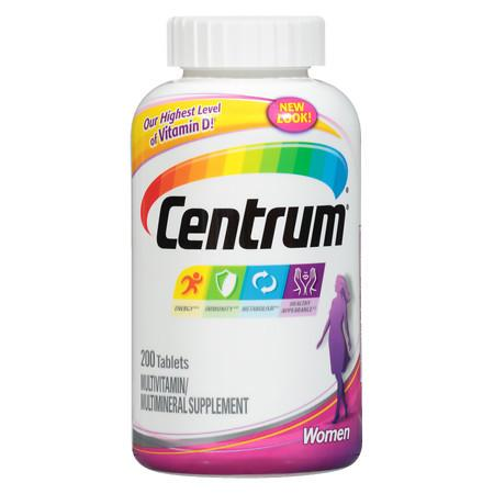 Centrum Women, Complete MultivitaminMultimineral Supplement Tablet - 200 ea