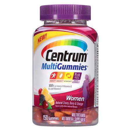 Centrum Women, MultiGummies MultivitaminMultimineral Supplement Gummies Cherry - 150 ea