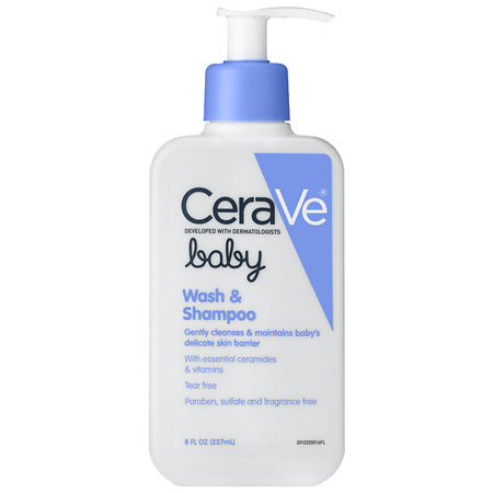 CeraVe Baby Wash and Shampoo Tear Free with Essential Ceramides - 8 oz.