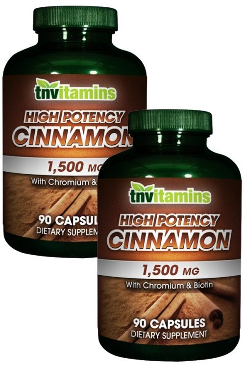 Cinnamon 1500 Mg With Chromium and Biotin