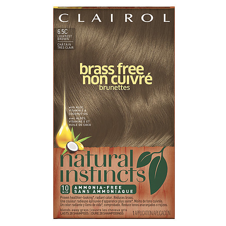 Clairol Natural Instincts Brass Free Semi-Permanent Hair Color - 1 ea