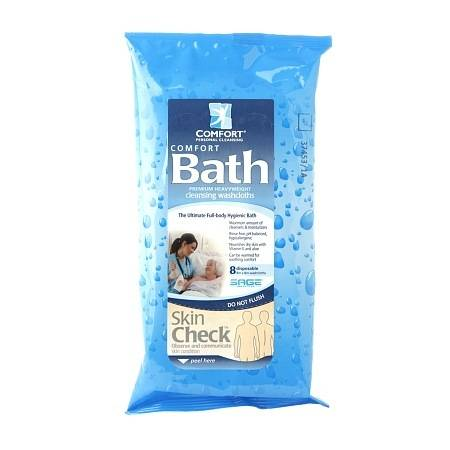 Comfort Personal Cleansing Bath Ultra-Thick Disposable Washcloths - 8 ea