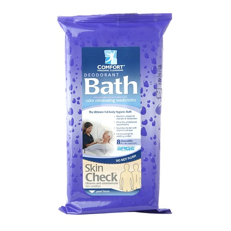 Comfort Personal Cleansing Bath Ultra-Thick Washclothes, Deodorant - 8 ea