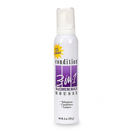 Condition 3-in-1 Maximum Hold Mousse - 6 oz.
