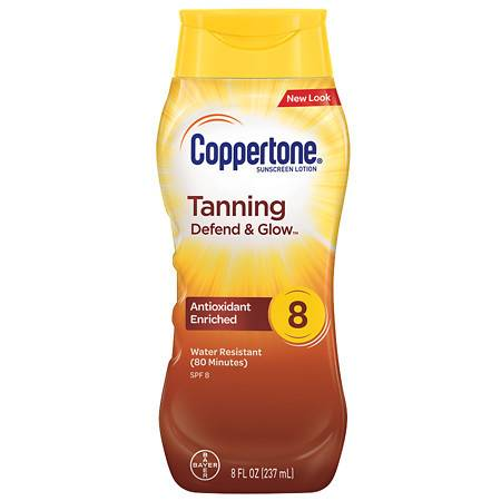 Coppertone Tanning Lotion Sunscreen, SPF 8 - 8 fl oz