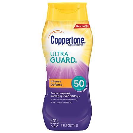 Coppertone Ultra Guard Sunscreen Lotion, SPF 50 - 8 fl oz