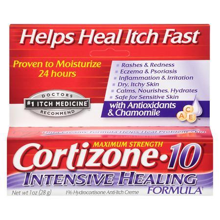Cortizone 10 Intensive Healing Formula 1% Hydrocortisone Anti-Itch Creme - 1 oz.