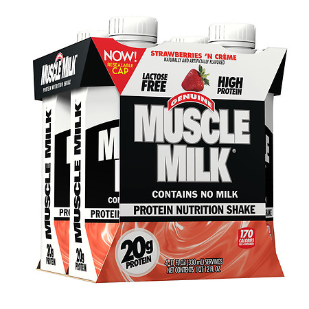 CytoSport Muscle Milk Protein Shake Strawberries N' Cream - 11 oz.