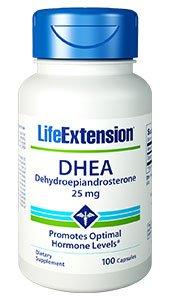 DHEA, 25 mg, 100 capsules