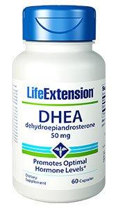 DHEA, 50 mg, 60 capsules