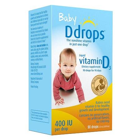 Ddrops Baby Vitamin D3 400IU - 90 drops
